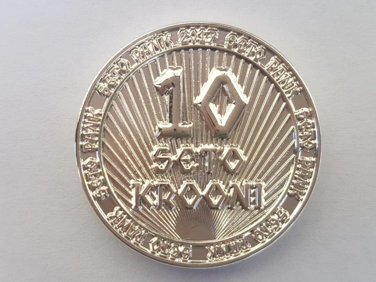 10 seto krooni erimünt